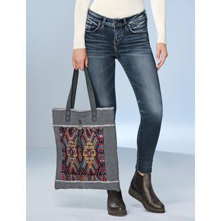 Der trendige Ethno-Shopper mit handgewebtem Huipil-Muster aus Guatemala. Fair und authentisch gefertigt. Limited Edition: 250 Stück. Von Smitten.