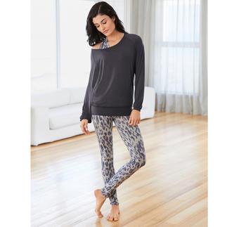Der vielleicht bequemste Hausanzug, den Sie je getragen haben. Weit mehr als nur ein Yogasuit: Dies ist Wellness zum Anziehen.