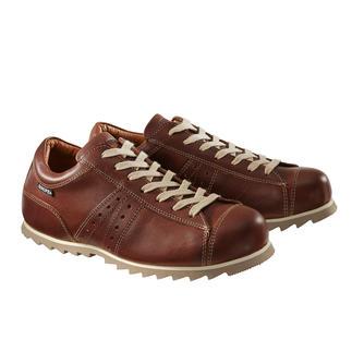 Der wetterfeste Ledersneaker von Industriedesigner Manolo Bañó. Seit 20 Jahren der beliebte Klassiker in der Kollektion der spanischen Kultmarke Snipe®.