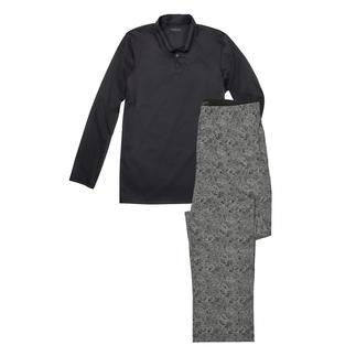 Der perfekte Gentleman-Pyjama: Bequem. Luftig. Edel. Kuscheliges Oberteil und leichte Hose aus mercerisiertem Baumwoll-Interlock. Von Novila.