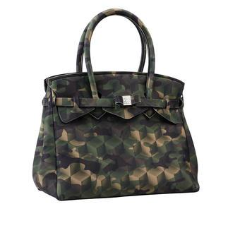 Diese ultraleichte Handtasche wiegt nur 380 Gramm. Klassische Form, innovatives Material, modisches Dessin. Made in Italy vom Kultlabel Save My Bag.