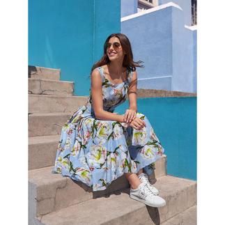 Der elegante Retro-Stil der 40er- und 50er-Jahre – von der Meisterin des Fachs: Samantha Sung. Leichter Baumwoll-Musselin mit modisch unvergänglichem Blumen-Dessin.
