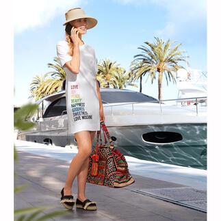 Das unkomplizierteste Gute Laune-Piece für den Sommer. Love Moschinos Statement-Shirt-Kleid.