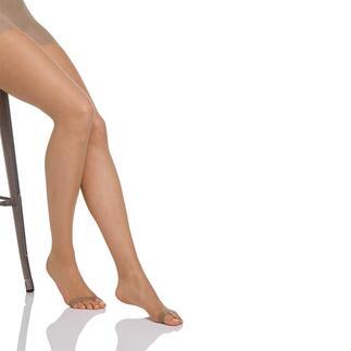 Die Peep Toe-Strumpfhose mit Zehensteg: Sitzt perfekt und rutscht nicht hoch. Von Magic® Bodyfashion.