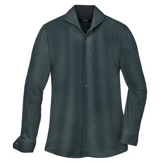 Das luxuriöse und bequeme unter den aktuellen Jersey-Hemden. Langstapelige Supima®-Baumwolle. Doppelte Merzerisierung. Echte Perlmuttknöpfe.