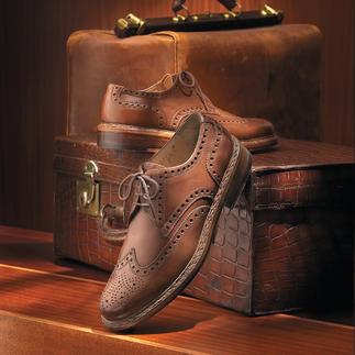 Der Budapester aus weichem Kalbleder. Sorgfältig handgefertigt in Ungarn. Ein Meisterwerk der Schuhmacherkunst. Von Heinrich Dinkelacker.