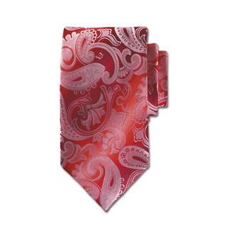 Die Rosso-Paisley Krawatte - eines der edelsten Krawatten-Dessins. In besonders seltener Version. Die schwere Seide mit Spezialeinlage macht den Knoten besonders ausdrucksvoll.