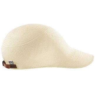 Die federleichte, luftige Panamakappe aus handgeflochtenem Panamastroh. Ein zuverlässiger Schattenspender, der nur 40 g wiegt.