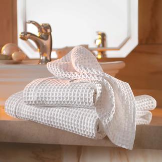Waffelpiqué-Handtücher, 2er-Set Die Handtücher der Luxus-Hotels aus edlem, großwabigem Waffelpiqué von Busatti 1842.
