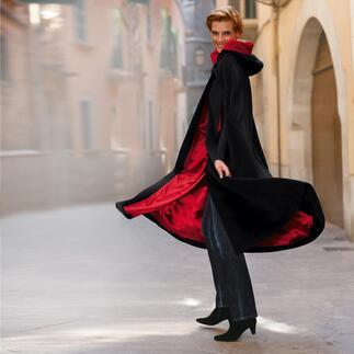 Der traditionsreiche Kinsale Cloak aus Irland: der bequeme und außergewöhnliche Schutz gegen Kälte. Aus feinster Kaschmir-Mischung. Weich, warm und ca. 1.480 g leicht.