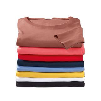Das Wolff-Shirt aus feinster, mercerisierter Baumwolle. Passt perfekt. Behält die Form. Vielfach kombinierbar. Shirts von Wolff überleben Generationen billiger Shirts. Kühl im Sommer, auch angenehm im Winter.