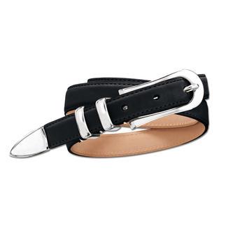 Der ideale 2 cm-Basic-Gürtel: Perfekt zu sportlichen und eleganten Outfits. Feminin, aber nicht verspielt. Er passt selbst in schmale Bundschlaufen. Und ist perfekt auf Hosen mit Taillen- und Hüftbund.
