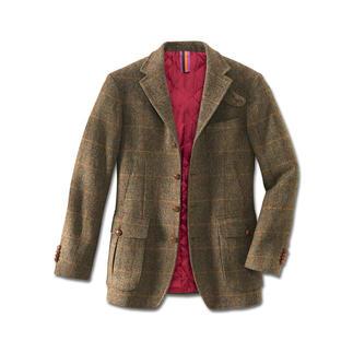 Das Hunting Jacket aus seltenem irischen Tweed. Warm gefüttert die stilvolle Alternative zu Hightech-Outdoor-Jacken.