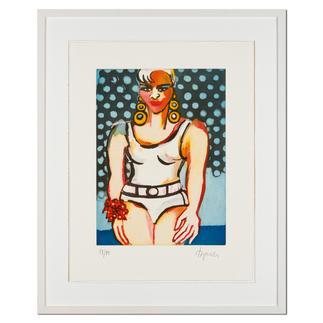 Elvira Bach – Germany's Next Topmodel 2010 Unverkennbar Elvira Bach: Eines ihrer weltberühmten Frauenportraits als Radierung. Die letzten 20 Exemplare der 99er-Edition. Maße: 46 x 60 cm