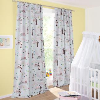 """Vorhang """"Little Owls"""", 1 Vorhang Trend-Tier Eule: Jetzt als Verdunkelungsvorhang fürs Kinderzimmer. Genau richtig für junge Fashion-Fans."""