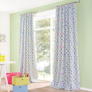 Verdunkelungsvorhang Funny Dots - 1 Stück Seltener Glücksgriff: Der Kinderzimmervorhang ohne Altersbegrenzung. Mit Verdunkelungsfunktion.