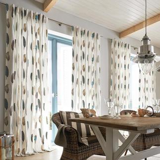 """Vorhang """"Falcone"""", 1 Vorhang Trendiges Feder-Dessin, selten kunstvoll gestickt. Bewunderter Blickfang der diesjährigen imm cologne."""