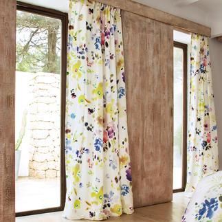 """Vorhang """"Midsummer Day"""", 1 Vorhang Selten gelungenes Aquarell-Design im Inkjet-Print. Viel beachtet in der internationalen Fachpresse."""