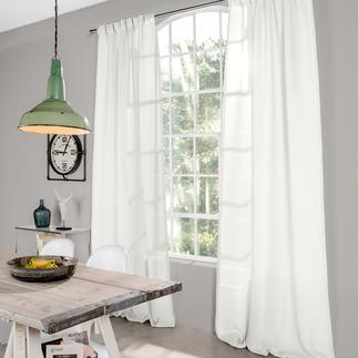 Vorhang Senja - 1 Stück 100% Leinen mit dezentem Glanz und seltener Transparenz.