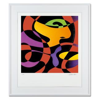 """R. O. Schabbach – inhale on red Sonderedition """"inhale on red"""" von R. O. Schabbach – exklusiv bei Pro-Idee. Handübermalt. Nur 30 Exemplare. Maße: 60 x 70 cm"""
