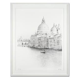 Koshi Takagi – Venedig Fotorealistische Bleistiftzeichnung mit über 1 Million handgemalten Strichen. Die dritte Schwarz-Weiß-Edition Koshi Takagis (die erste ist bereits ausverkauft). 30 Exemplare. Maße: gerahmt 94 x 117 cm