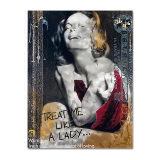 """Devin Miles – Like a Lady Devin Miles: Der Shootingstar der deutschen """"Modern Pop-Art"""". Unikatserie aus Malerei, Siebdruck und Airbrush auf gebürstetem Aluminium. 100 % Handarbeit. Maße: 100 x 130 cm"""