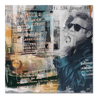 """Devin Miles – Steve's 911 Devin Miles: Der Shootingstar der deutschen """"Modern Pop-Art"""". Unikatserie aus Malerei, Siebdruck und Airbrush auf gebürstetem Aluminium. 100 % Handarbeit. Maße: 100 x 100 cm"""