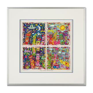"James Rizzi: ""New York City sings and swings"", 2013 3D-Papierskulpturen des verstorbenen James Rizzi. 175 Exemplare."