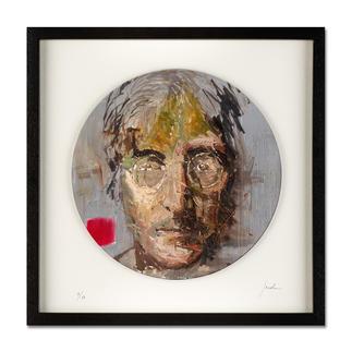 "Oliver Jordan: ""John Lennon"" Oliver Jordans Schallplatten-Edition ""John Lennon"". Handübermalt – jedes der 60 Exemplare ein Unikat."