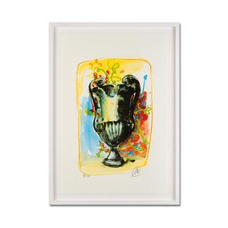 Markus Lüpertz – Vase 3 Keine Lüpertz-Edition ist wie diese. Einer seiner seltenen farbenfrohen Siebdrucke. Gering limitiert mit 40 Exemplaren. Maße: gerahmt 57 x 79 cm