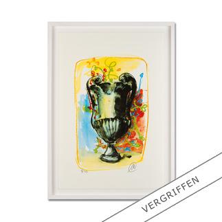 """Markus Lüpertz: """"Vase 3"""" Keine Lüpertz-Edition ist wie diese. Einer seiner seltenen farbenfrohen Siebdrucke. Gering limitiert mit 40 Exemplaren."""