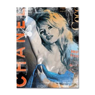 """Devin Miles – Bardot Chanel – Brigitte Bardot Devin Miles: Der Shootingstar der deutschen """"Modern Pop-Art"""".  Unikatserie """"Bardot Chanel – Brigitte Bardot"""" aus Malerei, Siebdruck und Airbrush auf gebürstetem Aluminium. 100 % Handarbeit. Maße: 100 x 130 cm"""