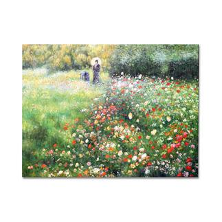"""Zhong Lirong malt Renoir: """"Frau mit Sonnenschirm"""" Renoirs """"Frau mit Sonnenschirm"""": Die perfekte Kunstkopie – 100 % von Hand in Öl gemalt."""