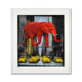 Lars Tunebo – High in New York Lars Tunebos handcolorierte Unikatserie. Exklusiv bei Pro-Idee. 99 Exemplare. Maße: 61,5 x 67,5 cm