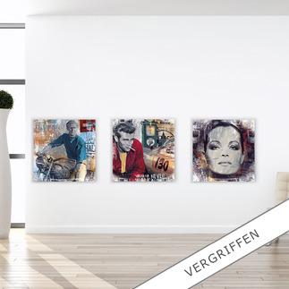 """Devin Miles: """"American Hero"""", """"Pit Stop"""" oder """"Romy"""" Devin Miles: Der Shootingstar der deutschen """"Modern Pop-Art"""". Unikatserien aus Malerei, Siebdruck und Airbrush auf gebürstetem Aluminium. 100 % Handarbeit."""