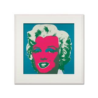 Andy Warhol – Marilyn blau Sunday B. Morning Siebdruck auf 1,52 mm starkem Museumskarton. Maße: gerahmt 112 x 112 cm