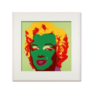 Andy Warhol – Marilyn hellgrün Sunday B. Morning Siebdruck auf 1,52 mm starkem Museumskarton. Maße: gerahmt 112 x 112 cm