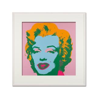 Andy Warhol – Marilyn rosa Sunday B. Morning Siebdruck auf 1,52 mm starkem Museumskarton. Maße: gerahmt 112 x 112 cm