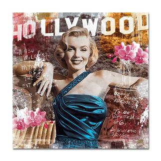 """Devin Miles – As Rose II Devin Miles: Der Shootingstar der deutschen """"Modern Pop-Art"""". Unikatserie aus Malerei, Siebdruck und Airbrush auf gebürstetem Aluminium. 100 % Handarbeit. Maße: 130 x 130 cm"""