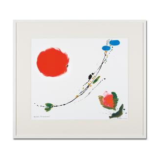 Brigitta Zeumer – Primavera Die erste deutsche Künstlerin, die zu Lebzeiten im Kaiserpalast in China ausstellen durfte. Brigitta Zeumers Siebdruck aus 15 Farben. 100 Exemplare. Maße: gerahmt 86 x 76 cm
