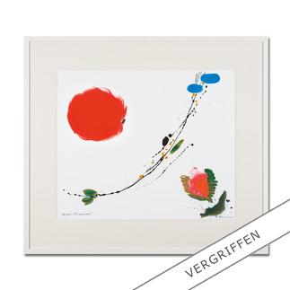 """Brigitta Zeumer: """"Primavera"""" Die erste deutsche Künstlerin, die zu Lebzeiten im Kaiserpalast in China ausstellen durfte. Brigitta Zeumers Siebdruck aus 15 Farben. 100 Exemplare."""