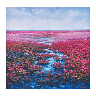 Pei Lian Zhi – Romantic Daydream Pei Lian Zhi: In mehr als 200 Sammlungen vertreten. Jetzt auch in Ihrer? Maße: 120 x 120 cm