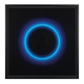 Fabrizius² – Ohne Titel – Kreis Weiß in Blau Die vierhändige Kunstsensation.  Erste Edition der Zwillingsschwestern Fabrizius. 35 Exemplare.