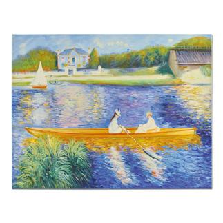 """Zhong Lirong malt Renoir – La Yole Renoirs """"La Yole"""": Die perfekte Kunstkopie – 100 % von Hand in Öl gemalt."""