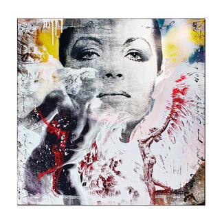 """Devin Miles – David Der Shootingstar der deutschen """"Modern Pop-Art"""". Unikatserie aus Malerei, Siebdruck und Airbrush auf Holz. 100 % Handarbeit. Maße: 80 x 80 cm"""