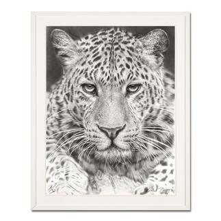 Koshi Takagi – Leo Fotorealistische Bleistiftzeichnung. Mit über 1 Million handgemalten Strichen. Koshi Takagis dritte Edition seiner Raubkatzen-Serie. 30 Exemplare.