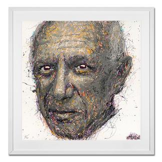 STALE – Think different - Picasso STALE: Senkrechtstarter dank weltweit einzigartiger Technik. Bemerkenswertes Picasso-Portrait im Action Painting erschaffen. 40 Exemplare.