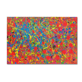 Mikail Akar – Rote Punkte Mit 7 Jahren schon 4-stellige Verkaufspreise. Editionsdebüt von Deutschlands jüngstem Abstraktkünstler Mikail Akar. Maße: 120 x 80 cm