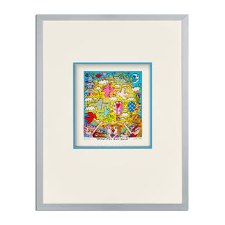James Rizzi – Beautiful sun daze 3D-Papierskulpturen des verstorbenen James Rizzi. 350 Exemplare. Maße: gerahmt 31 x 41 cm
