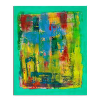 Mikail Akar – Welle Mikail Akar: Erst 7 Jahre alt – schon 4-stellige Verkaufspreise. Deutschlands jüngster Abstraktkünstler mit seiner ersten Edition seiner gefragten gespachtelten Werke. Maße: 90 x 110 cm